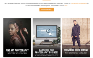 Best photography tutorials from working pros