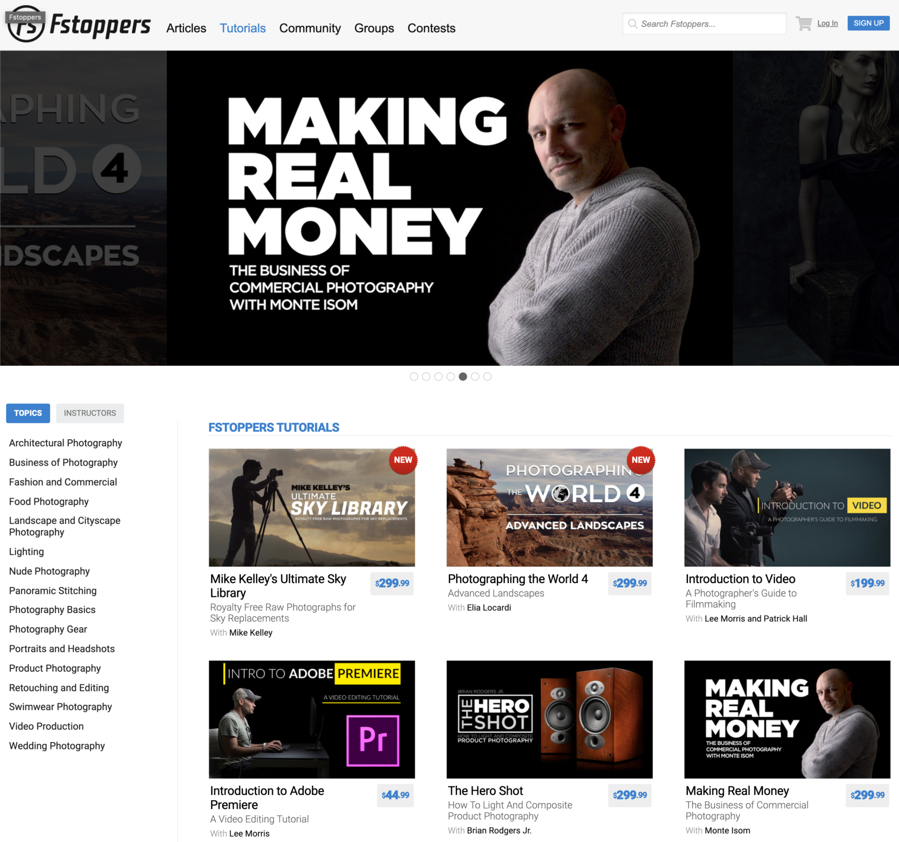 Fstoppers photography, video and business courses