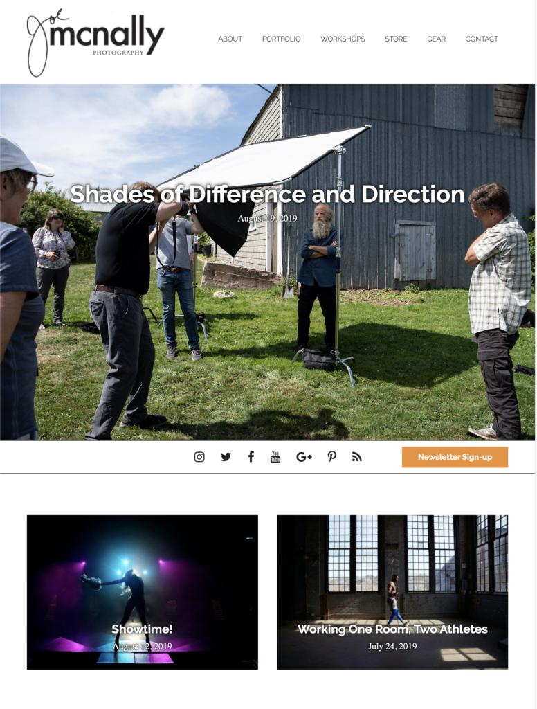 Best Nikon Photograher Joe Mcnally workshops and blog