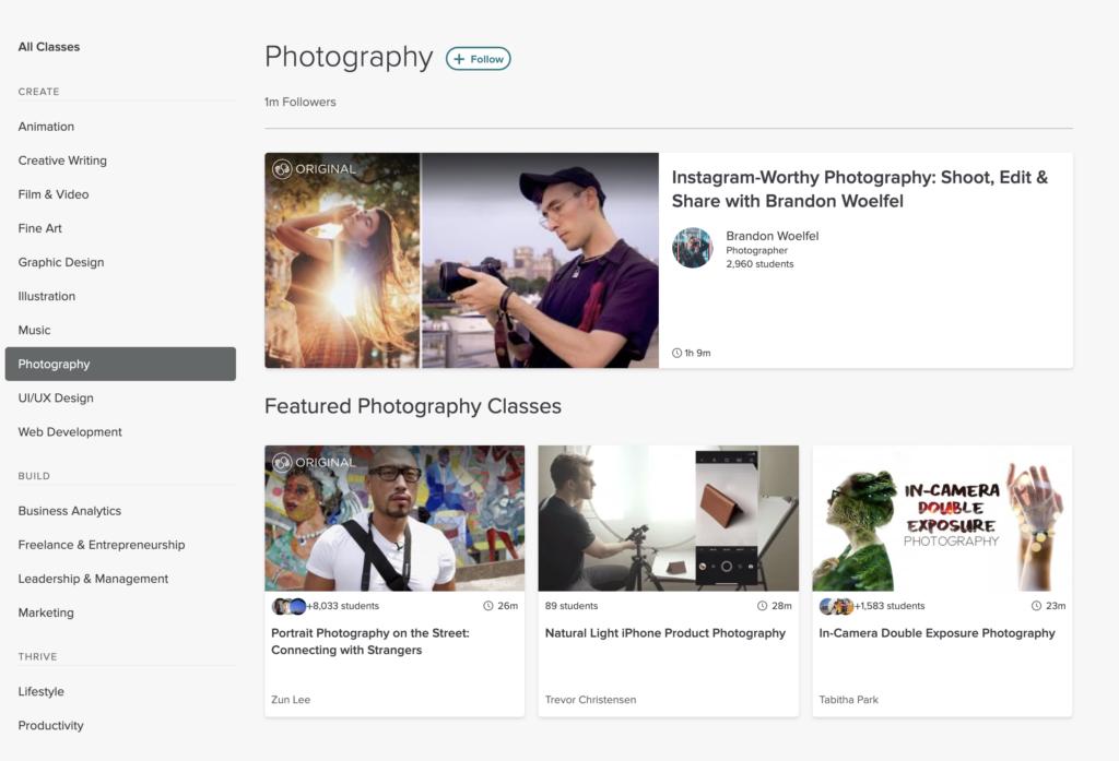 skillshare photography courses to improve your skillset