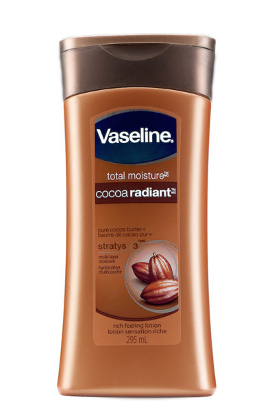 vaseline lotion on a pure white background