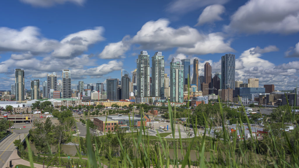 photograph in calgary from Scotsman Hill on a sunny day