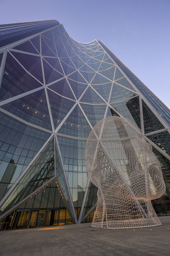 photography in calgary of the bow tower