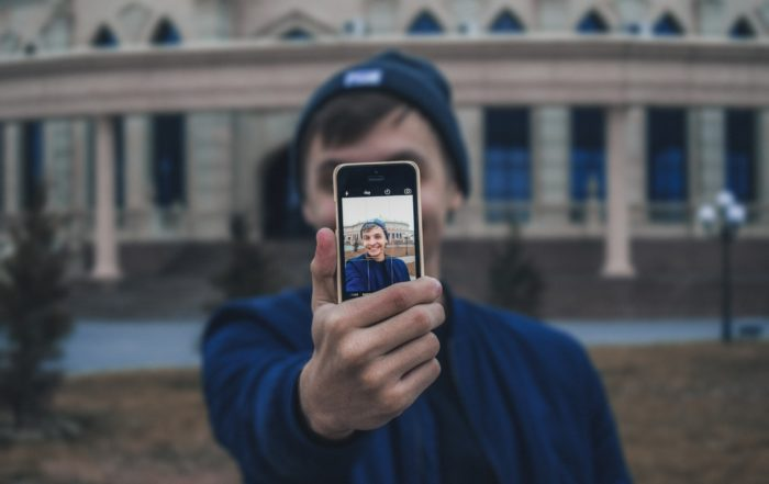 outdoor headshot with your phone